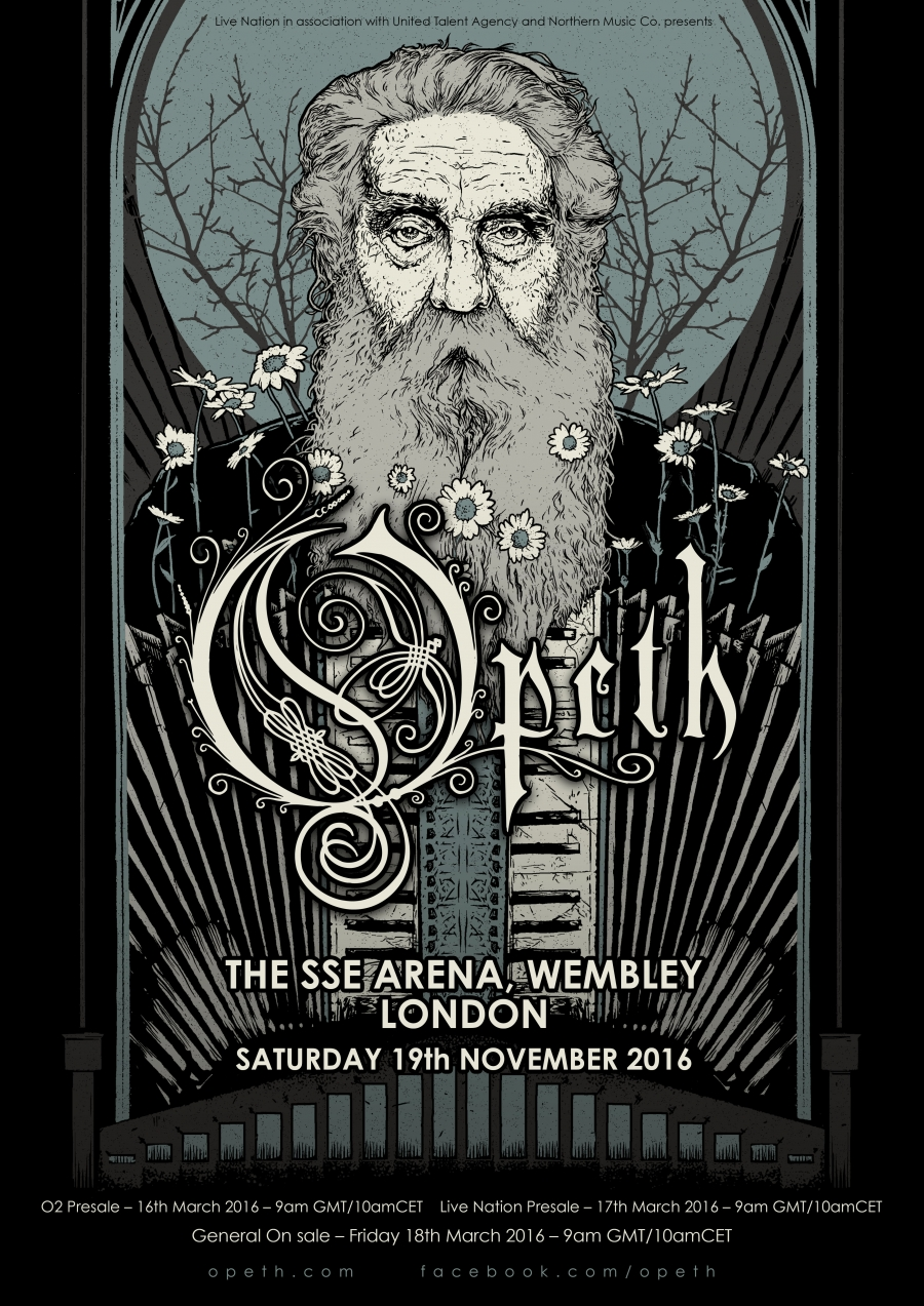 Opeth to headline the SSE Wembley Arena on November 19th!